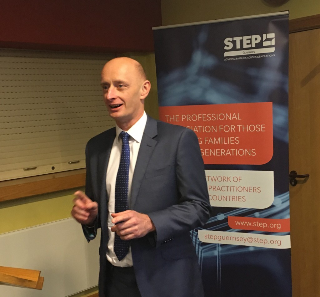 Chris Brown Speaking at STEP Guernsey Conference